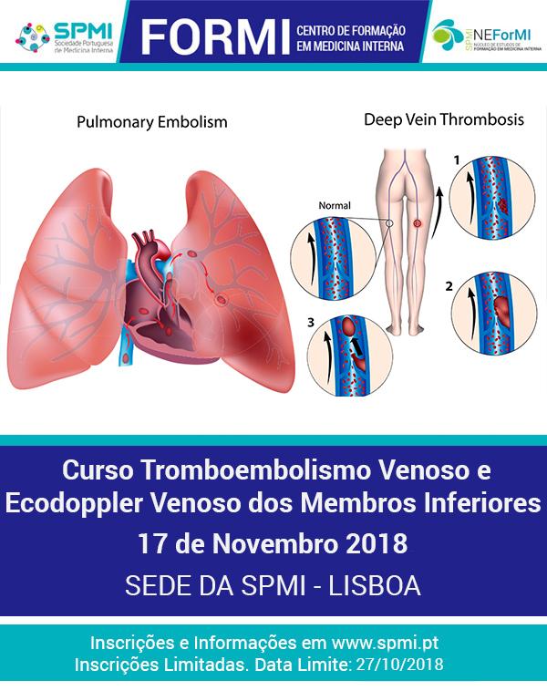 Curso de Tromboembolismo Venoso com doppler dos membros inferiores