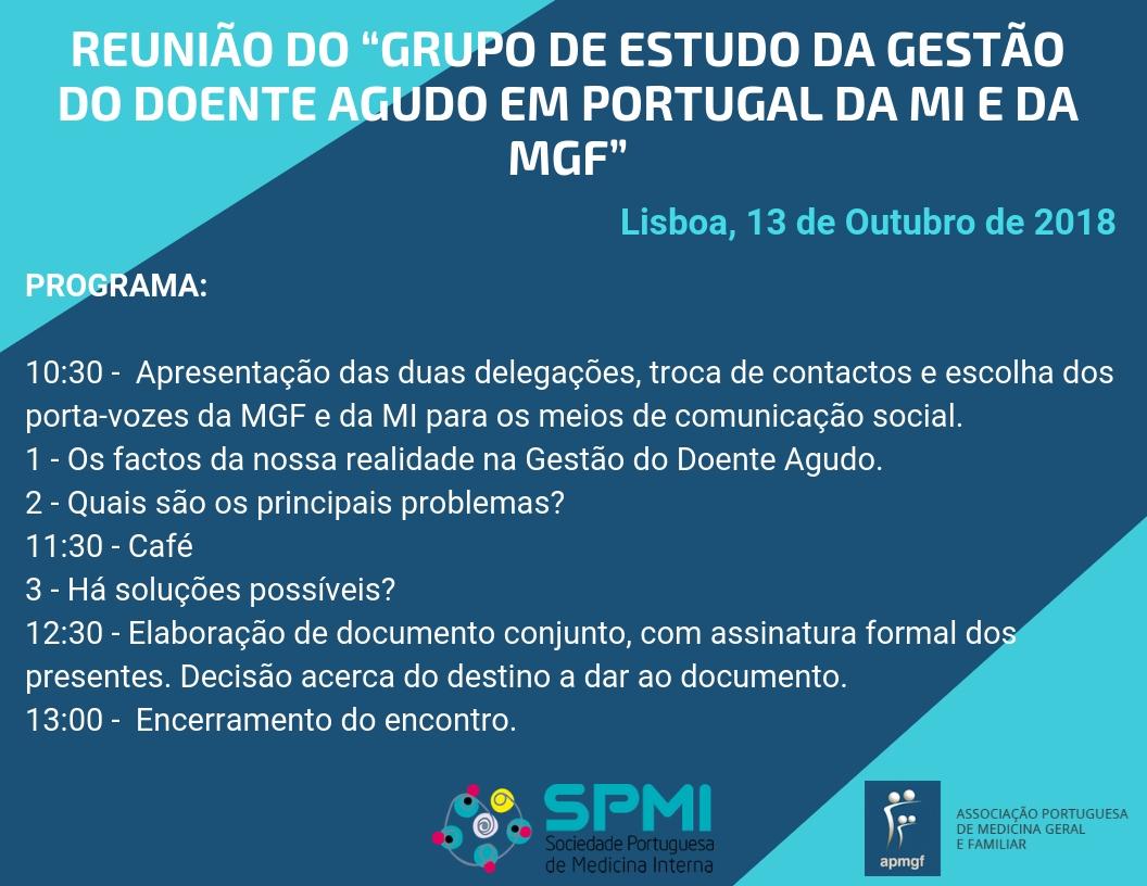Grupo de Estudo da Gestão do Doente Agudo em Portugal da MI e da MGF
