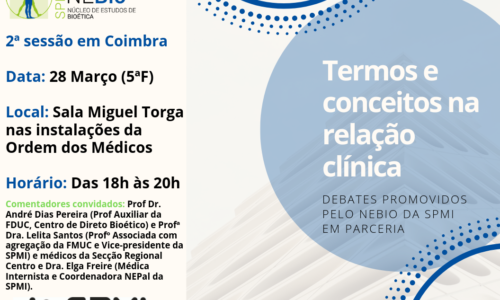 Debates: Termos e conceitos na relação clínica- 28 Março – Coimbra