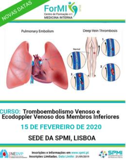 2ª edição do Curso de Tromboembolismo Venoso e Ecodoppler Venoso dos Membros Inferiores