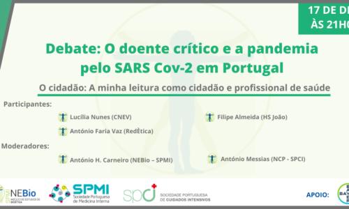 Debate Online: O doente critico e a pandemia em Portugal