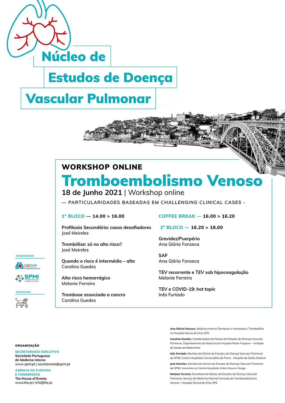 Workshop Online de Tromboembolismo Venoso,