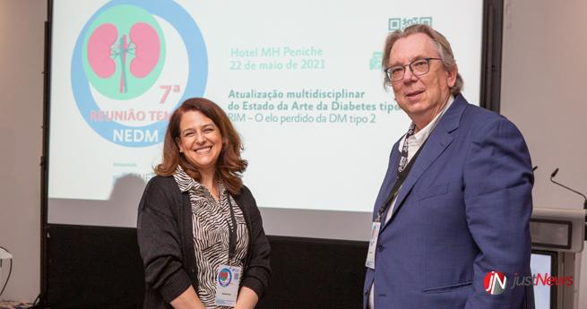 Susana Heitor com Estevão de Pape, coordenador do NEDM