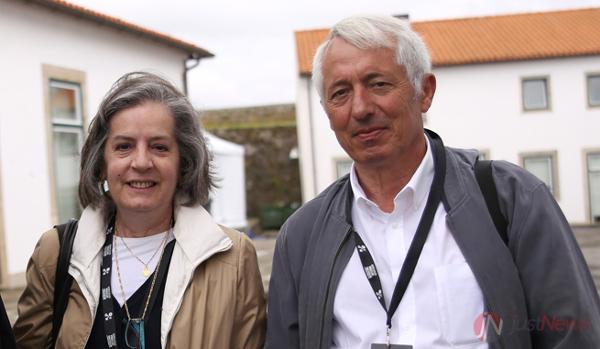 Margarida Bigotte com Álvaro Coelho, coordenador do NEDM, no 22º Congresso Nacional de Medicina Interna.
