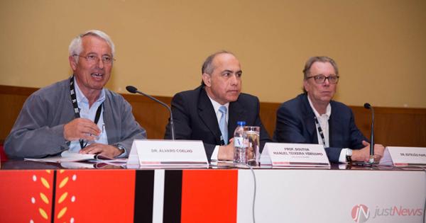 Álvaro Coelho com Manuel Teixeira Veríssimo e Estevão Pape.